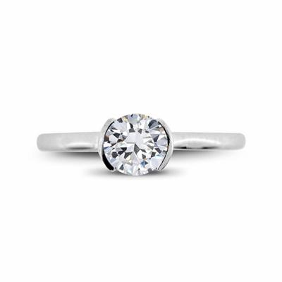 Brilliant Cut Solitaire 0.39ct F VS1 GIA